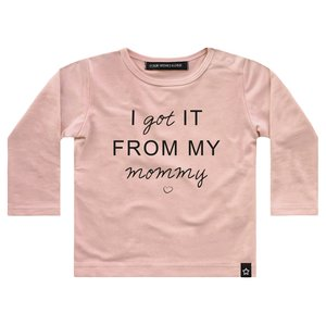 YOUR WISHES meisjes longsleeve pink i got it from my mommy