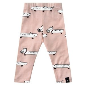 YOUR WISHES meisjes legging pink puppy in the park