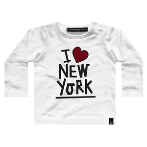 YOUR WISHES Your Wishes longsleeve white i love ny