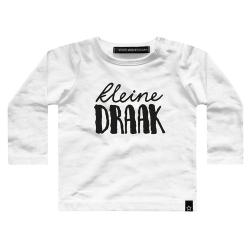 YOUR WISHES Your Wishes longsleeve white kleine draak