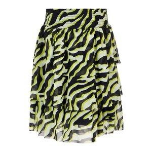NAME IT meisjes rok pastel yellow zebra