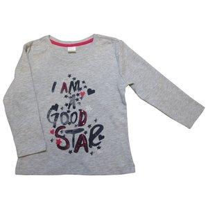 KNOT SO BAD meisjes longsleeve good star grey