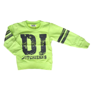 DJ DUTCHJEANS jongens trui bright green dangerous