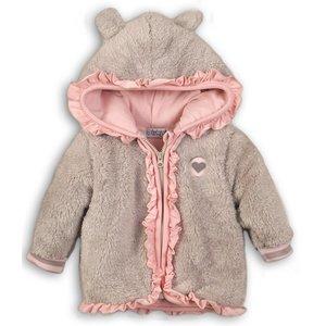 DIRKJE BABYKLEDING meisjes jas grey so soft outside