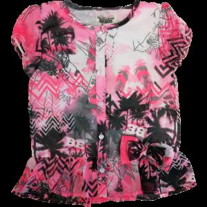 DJ DUTCHJEANS meisjes jurk pink leaves