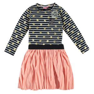 O'Chill meisjes jurk blue/white stripes pink sheila