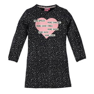 O'Chill meisjes jurk anthracite dots loulou