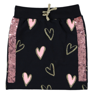 O'Chill meisjes rok dark blue hearts maaike