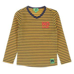 FUNKY XS jongens longsleeve stripe warm yellow