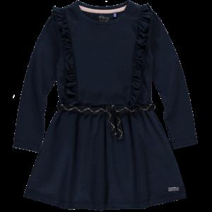 Quapi meisjes jurk dark navy lurex stripe tarana