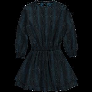LEVV meisjes jurk teal blue snake