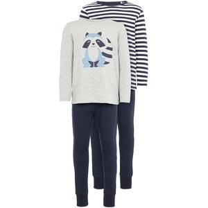 NAME IT jongens 2-pack pyjama set grey melange