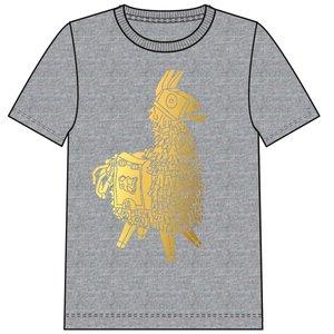NAME IT jongens t-shirt grey melange fortnite