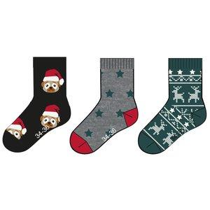 NAME IT jongens 3-pack sokken black kerst