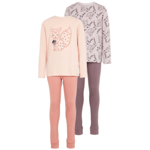 NAME IT meisjes 2-pack pyjama set silver pink