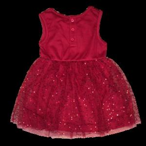 KNOT SO BAD meisjes jurk tule glitter dark pink