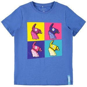 NAME IT jongens t-shirt strong blue fortnite