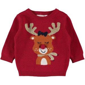 NAME IT meisjes trui jester red kerstmis