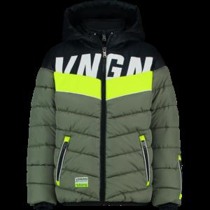 VINGINO jongens padded ski-jas army green techi