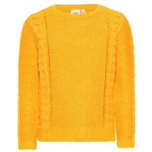 NAME IT meisjes trui golden orange