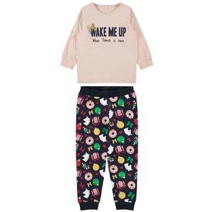 NAME IT meisjes pyjama silver pink kerst