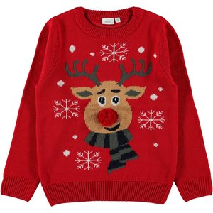 NAME IT trui jester red kerst