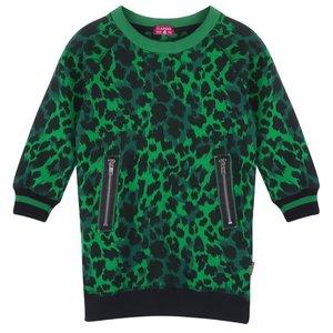 CLAESEN'S meisjes jurk  green panther