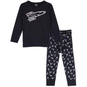 CLAESEN'S jongens pyjama astro black