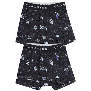 CLAESEN'S jongens 2-pack boxer astro black