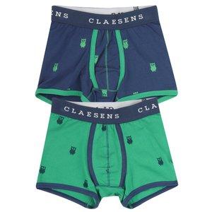 CLAESEN'S jongens 2-pack boxer owl