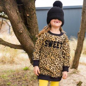 CLAESEN'S meisjes jurk  brown panther