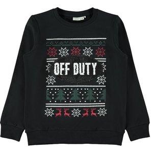 NAME IT jongens trui black kerst