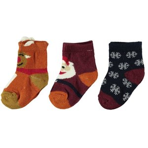 NAME IT meisjes 3-pack sokken umber kerst