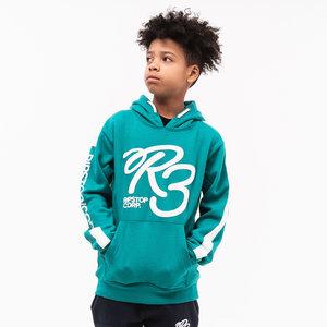 RIPSTOP jongens trui green logoface