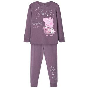 NAME IT meisjes pyjama's black plum peppa pig