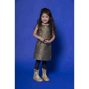 Kidz Art Kidz Art meisjes jurk gold party