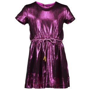 Kidz Art meisjes jurk neon fuchsia party