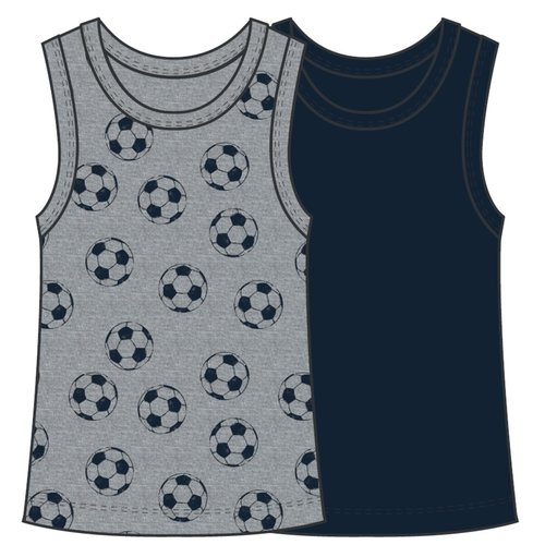 NAME IT NAME IT jongens hemd 2-pack  grey melange