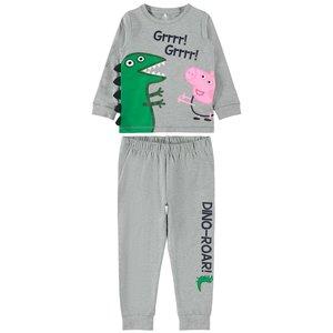 NAME IT jongens pyjama grey melange peppa pig