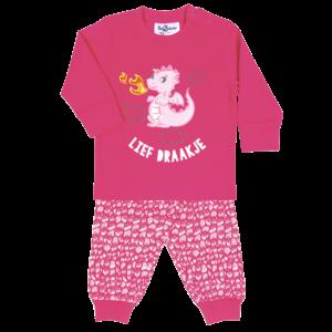 FUN2WEAR meisjes pyjama lief draakje fuchsia purple