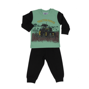 FUN2WEAR jongens pyjama tractor black