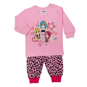 FUN2WEAR meisjes pyjama amazing girls prism pink