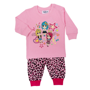 FUN2WEAR meisjes pyjama amazing girls prism pink