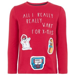 NAME IT longsleeve jester red kerst