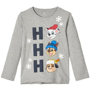 NAME IT longsleeve grey melange paw patrol kerst