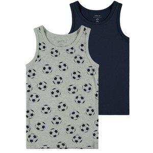 NAME IT jongens 2-pack hemden grey melange