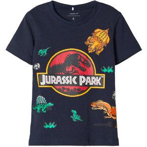 NAME IT jongens t-shirt dark sapphire jurassic park