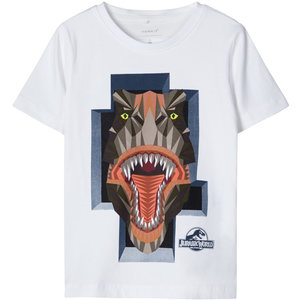 NAME IT jongens t-shirt bright white jurassic world