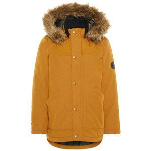 NAME IT jongens jas bronze brown