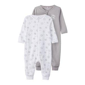 NAME IT unisex pyjama 2 pieces zip alloy noos